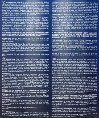 Ironmaxx  Titan v.2.0, Vanille, Dose 2000 g
