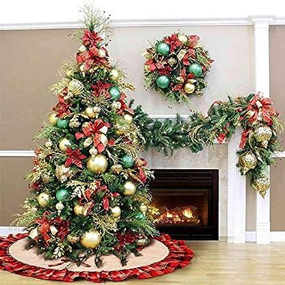 Baumdecke-Weihnachten-Weihnachtsbaum-Rock-Christbaumdecke-Rund-Wei-rot-Weihnachtsbaumdecke-Christbaumstnder-Teppich-Decke-Weihnachtsbaum-Deko