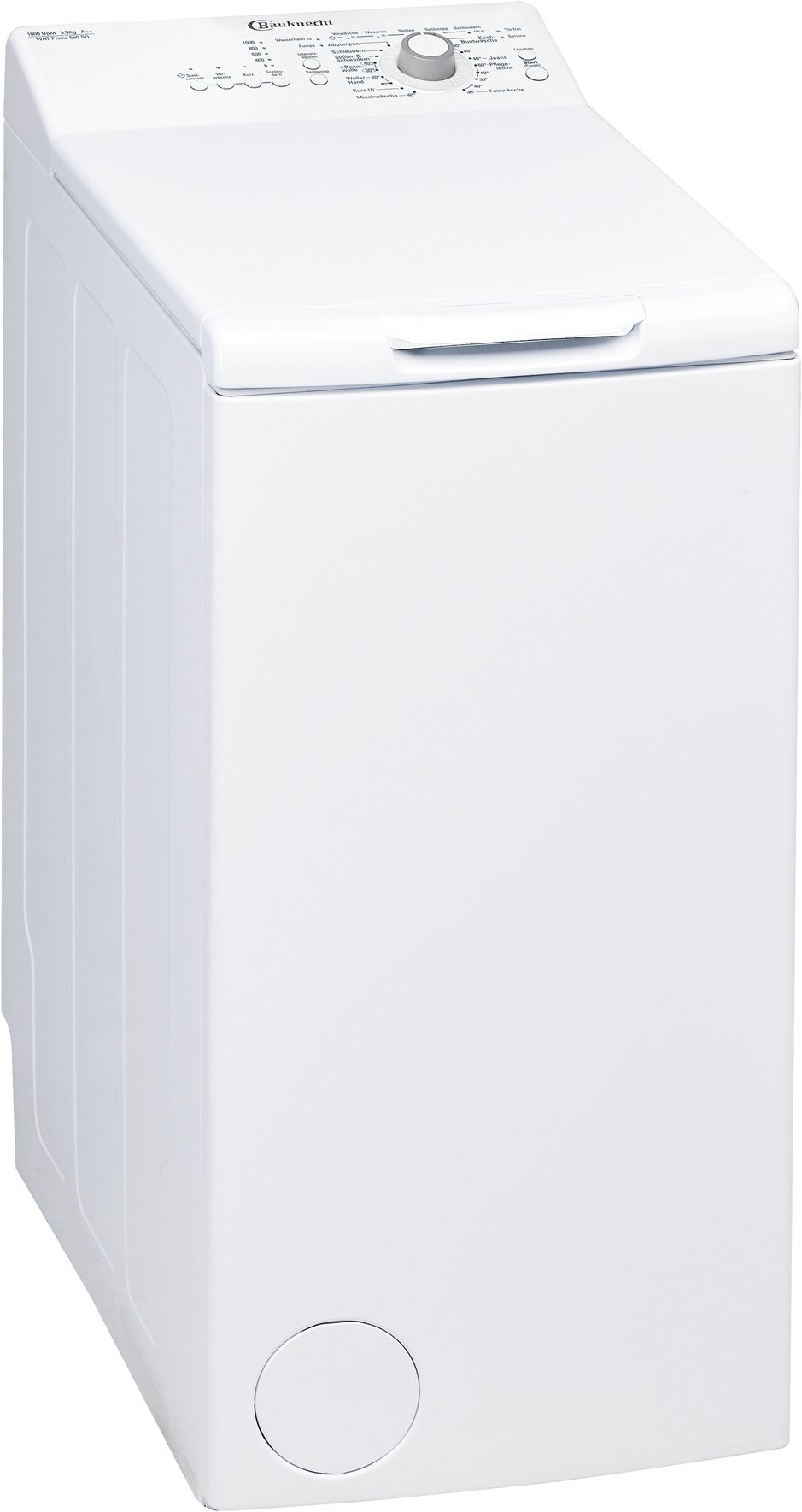 Bauknecht-WAT-Prime-550-SD-Waschmaschine-TLA-160-kWhJahr-1000-UpM-55-kgKurz-15-schnelle-Wsche-in-15-minMengenautomatikwei