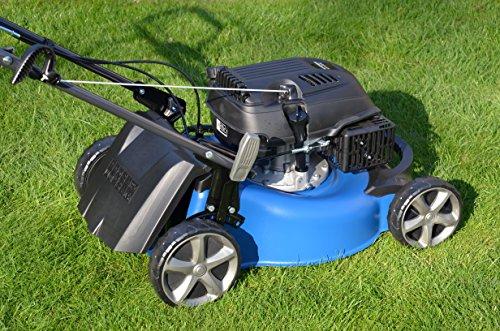 HYUNDAI-Benzin-Rasenmher-LM4602G-Radantrieb-Schnittbreite-46cm-kraftvoller-26kW-35PS-HYUNDAI-Motor-65L-Fangkorb-Mulcher-Benzinmher