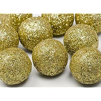 FesteFeiern-Weihnachts-Deko-I-9-Teile-Deko-Kugeln-gold-je-3cm-I-Dekoration-Adventskranz-Gesteck-Basteln-Tannenbaum-Weihnachten