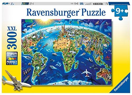 Ravensburger-Puzzle-Weltkarte-300-teilig-xxl-13227