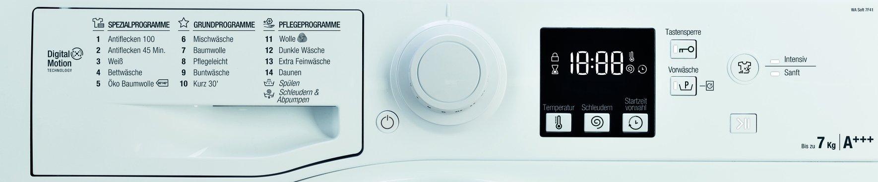 Bauknecht-WA-Soft-Waschmaschine-Frontlader-A-10-1400-UpM-langlebiger-Motor-Nachlegefunktion-Wasserschutz-wei