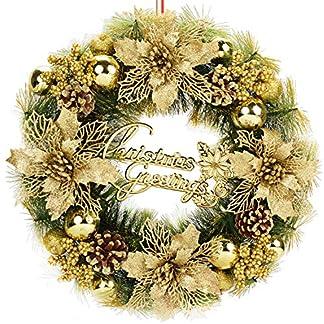 Bageek-Weihnachtskranz-Trkranz-Weihnachten-Wannenkranz-Knstlich-Weihnachten-Deko-Kranz-Weihnachtsgirlande-Weihnachten-Garland