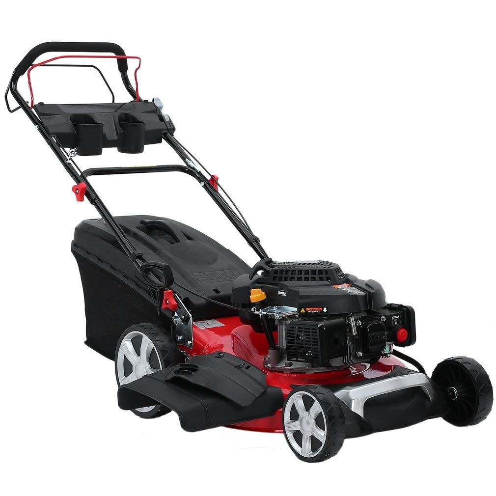 Sweepid-4400W-4-in-1Benzin-Rasenmher-Elektrostart-Selbstantrieb-GT-Getriebe-44kW6PS-196ccm-62L-52cm-Schnittbreite-Power-OHV-Motor