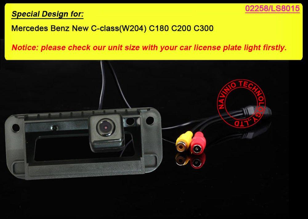 Kalakass-Auto-Rckfahrkamera-mit-Heckklappe-Kofferraumgriff-170HD-CCD-Rckfahr-Parken-fr-Mercedes-Benz-New-C-Class-W204-C180-C200-C300