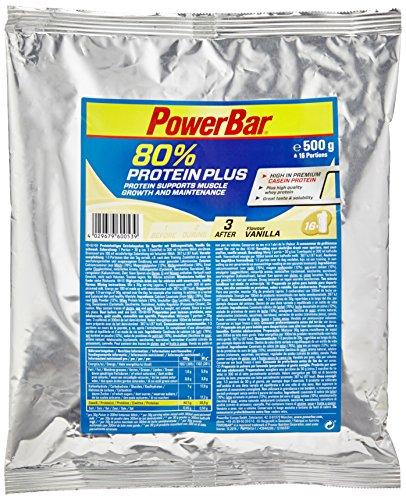 PowerBar Proteinshake Nachfüllbeutel ProteinPlus 80%, Vanille, 500g