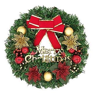 bainuote-35cm-Weihnachtskranz-Weihnachts-Trkranz-Weihnachtsdeko-Kranz-Weihnachtsgirlande-mit-Kugeln-Handarbeit-Weihnachten-Garland-Deko-Kranz