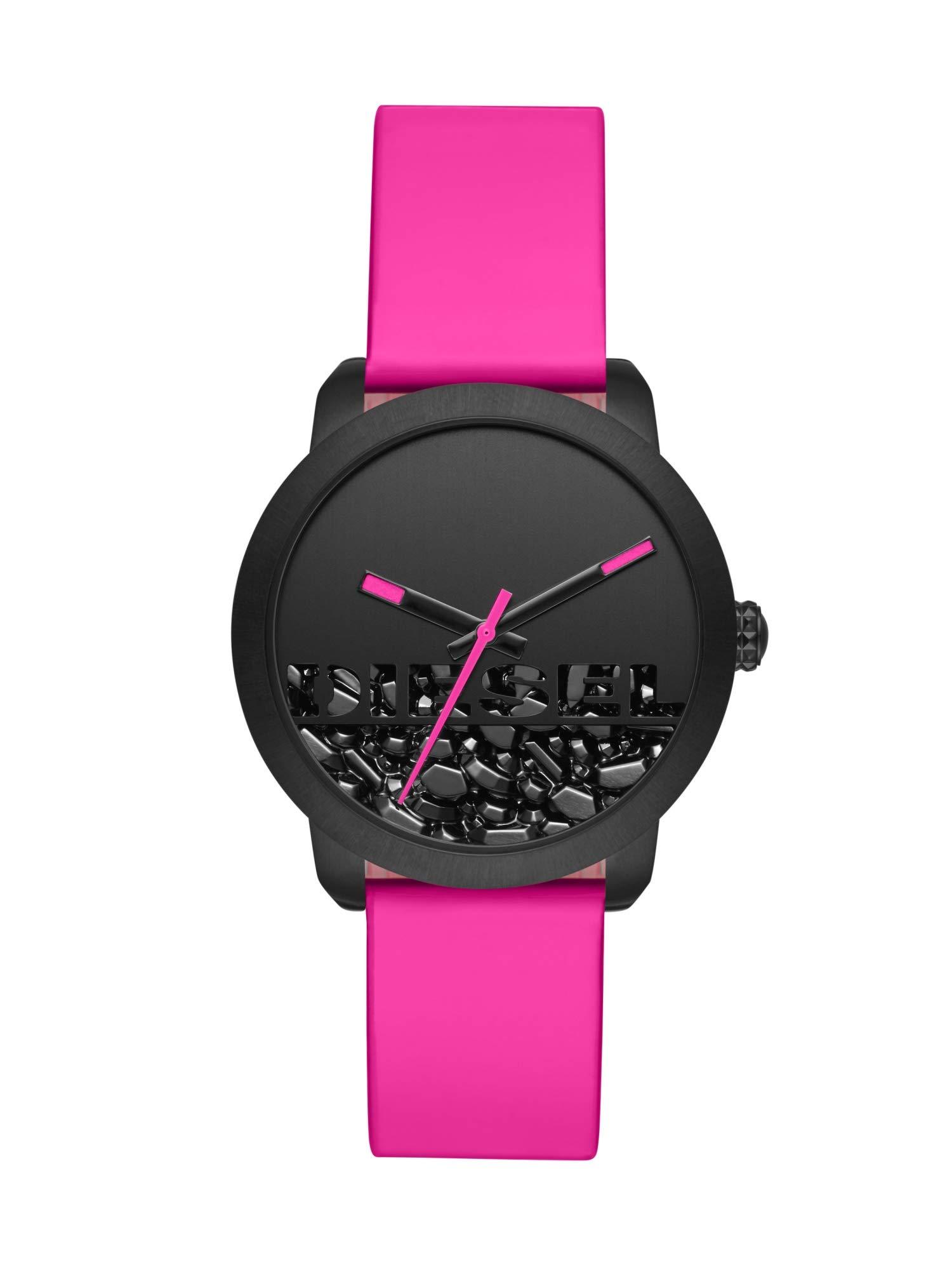 Diesel-Damen-Analog-Quarz-Uhr-mit-Leder-Armband-DZ5590