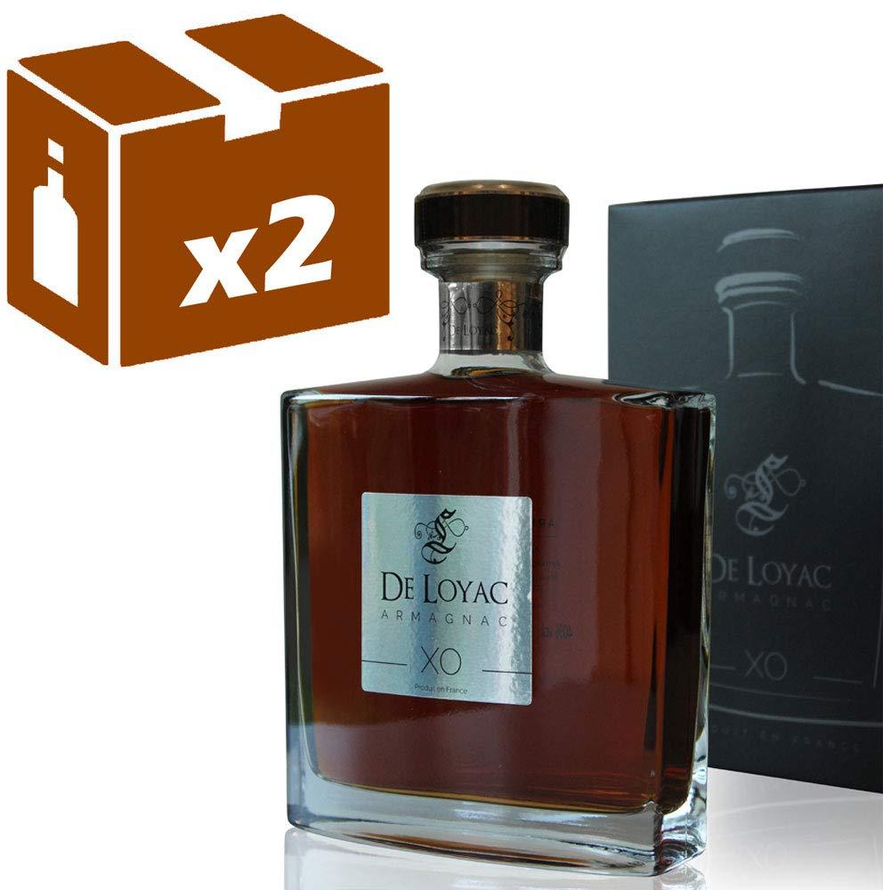x2-Armagnac-De-Loyac-XO-Carafe-70CL