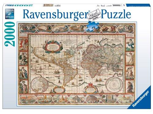 Ravensburger-Puzzle-2000-Teile-Weltkarte-antik-16633