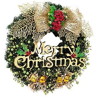 AMUSTER-Weihnachten-Deko-Weihnachten-groe-Kranz-Tr-Wand-Ornament-Girlande-Dekoration-Rot-Bowknot-Weihnachtsbaum-Decor