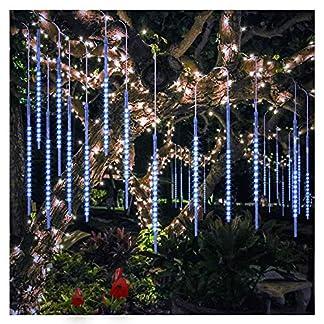 30cm-8-Rhren-48-LEDs-pro-Rhre-Meteor-Regenlicht-Rhre-Wasserdichte-Leuchten-fr-hngende-Baumweihnachtsgarten-Hauptdekoration