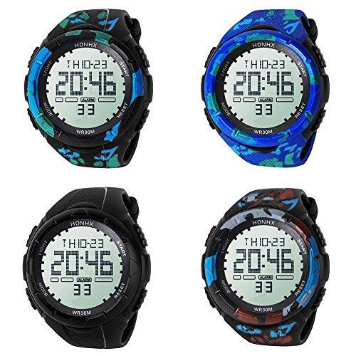 Domybest-Herren-jugendlich-Sport-Digital-Warnungs-Leben-wasserdichte-leuchtende-elektronische-Uhren