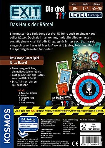 KOSMOS-Spiele-694043-EXIT-Spiel-drei-Haus-Rtsel-Brettspiel