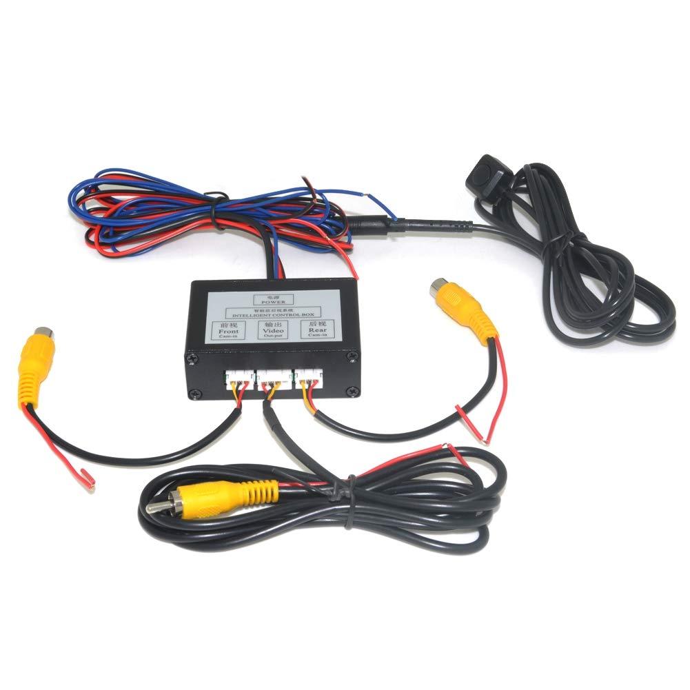 TOOGOO-Park-Platz-Kamera-Video-Kanal-Konverter-Auto-Schalter-VorderSicht-SeiteRckfahr-Kamera-Video-Control-Box-mit-Handbuch