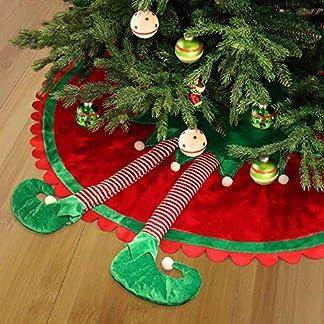 Valery-Madelyn-Weihnachtsbaum-Rock-90-cm-Stoff-Weihnachtsbaumdecke-mit-Kunstfell-Weihnachtsbaum-Weihnachtsschmuck-Dekoration-Weihnachtsdeko-fr-Weihnachten-Silber-Wei-MEHRWEG-VERPACKUNG