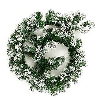 Enjoygoeu-Weihnachtsgirlande-Tannengirlande-mit-Schnee-Weihnachtsdeko-Grn-Wei-Knstliche-Tannen-Girlande-Weihnachten-Deko-fr-Treppen-Wand-Tr-18M