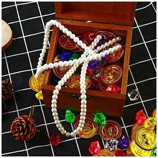 50pcs-Pirat-Mnzen-100pcs-Piraten-Edelsteine-Mehrfarbige-Goldmnzen-des-Piratenschatz-Spielzeugs-und-Piraten-Schmucksteine-Set-fr-Kinder-Piratenparty-Mitgebsel