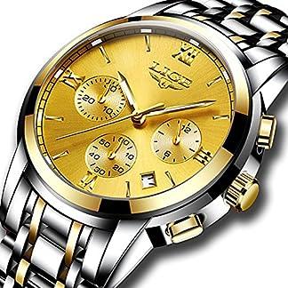 Herrenuhren-Luxusmarke-LIGE-Analog-Quarzuhr-Mnner-Wasserdicht-Edelstahl-Sport-Armbanduhr-Mann-Gold-Business-Kleid-Uhr