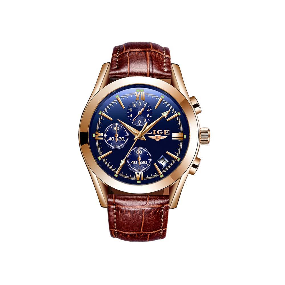 LIGE-Quarzuhr-Einfache-Herren-Zeit-Kalender-Display-Armbanduhr-Mode-Lssig-Sport-Herrenuhr