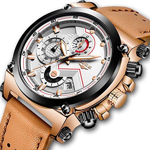LIGE-Herrenuhren-Mode-Wasserdicht-Edelstahl-Analog-Quarzuhr-Mnner-Lssige-Sport-Chronograph-Datum-Schwarz-Kleid-Armbanduhr-
