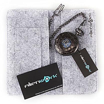 Alienwork-Retro-Handaufzug-mechanische-Taschenuhr-Skelett-Uhr-Herren-Uhren-graviert-vintage-Metall-blau-schwarz-W891B-01
