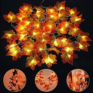 40-LED-Ahornbltter-Lichterkette-Vegena-4M-Ahornblatt-Lichterketten-Weihnachtsbeleuchtung-Batteriebetrieben-Innen-Auen-Deko-fr-Thanksgiving-Halloween-Weihnachten-Balkon-Terrasse-Wohnzimmer-Warmwei