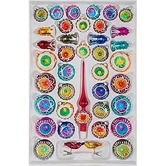39-tlg-Glas-Weihnachtskugeln-Set-inHochglanz-Vintage-Style-Christbaumkugeln-Weihnachtsschmuck-Christbaumschmuck-Reflektorkugeln-Reflexkugeln-Reflector-Balls