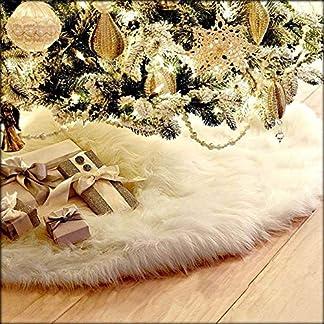 CHBOP-78CM-Weihnachtsdecke-Weihnachtsbaumdecke-Unterlegdecke-Baumdecke-Christbaumstnder-Weihnachtsbaum-Dekorationen-Plsch-Weihnachtsschmuck-Deko-fr-Weihnachten-wei