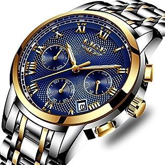 Herren-Uhren-Damen-Chronograph-Wasserdicht-Sport-Analog-Quarzuhr-mnner-Edelstahl-Geschfts-Business-Fashion-Armbanduhr-mnner-frauen-Gold-Blau-Uhr