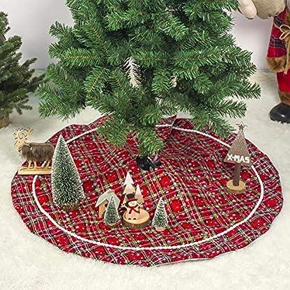 2019-Rot-Weihnachtsbaumrock-Karierter-Weihnachtsbaum-Rock-Weihnachtsbaumdecke-Baumdecke-Christbaumstnder-Decke-Weihnachtsschmuck-Weihnachtsdeko-100CM