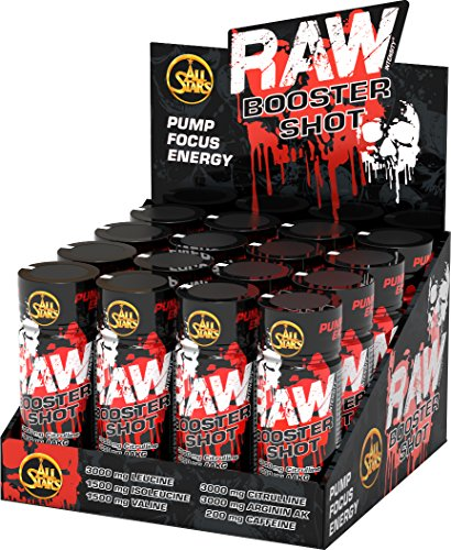 All Stars Raw Booster Shot – 16 x 60 ml Fläschchen, Tropical, 1er Pack (1 x 960 ml)