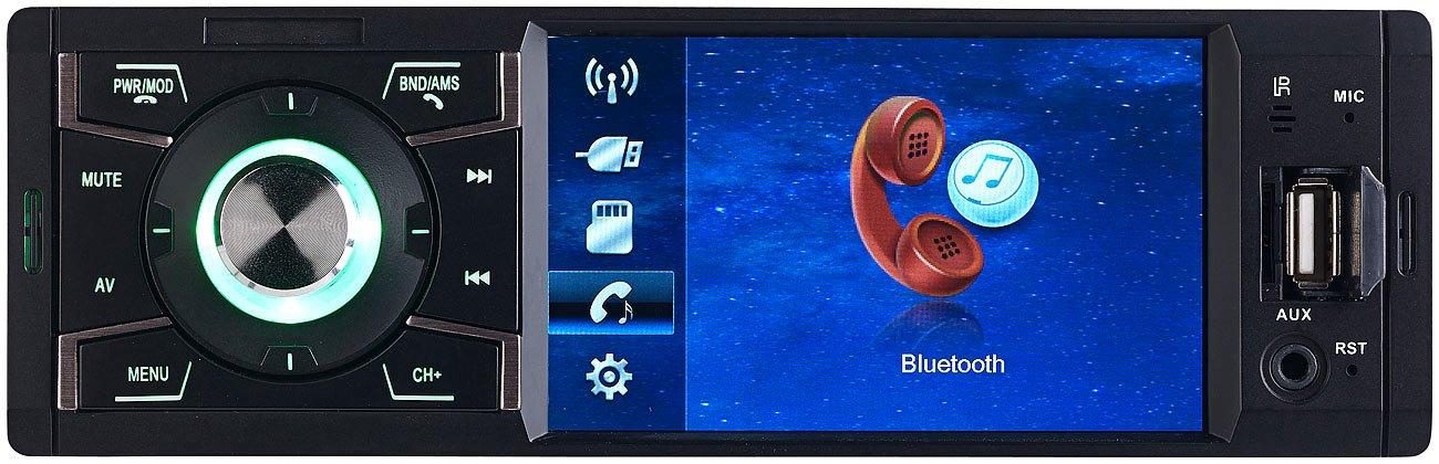Creasono-Autoradios-MP3-Autoradio-mit-TFT-Farbdisplay-Bluetooth-Freisprecher-4X-45-Watt-1-DIN-Radio
