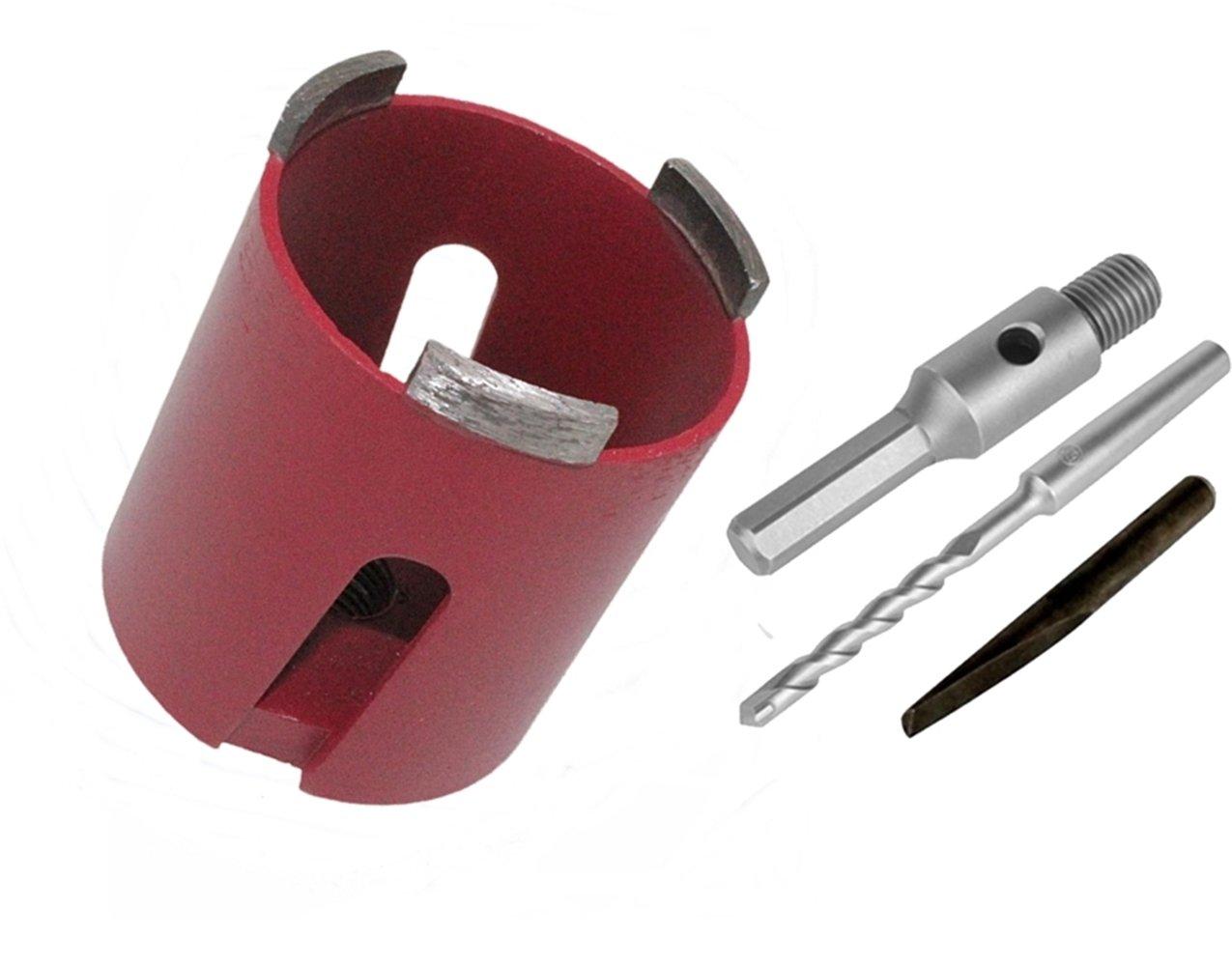 Diamant-Dosensenker-68-82-mm-Bohrkrone-M16-SDS-Aufnahme-Sechskantaufnahme-Dosensenker-68-mm-inkl-Sechskant-Aufnahme