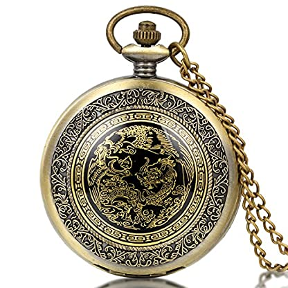 JewelryWe-Retro-Taschenuhr-Drachen-Phnix-Herren-Kettenuhr-Analog-Quarz-Uhr-mit-Halskette-Kette-Pocket-Watch-Vatertag-Geschenk