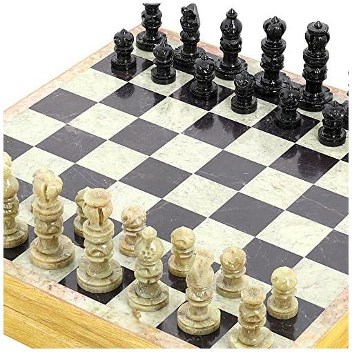 Handgemachte-Indische-Schachspiel-Schach-Spielen-Mit-Specksteinschachfiguren-Stein-Und-Holz-Schachbrett-Einzigartige-Schachfiguren-Und-Bretter-Fr-Geschenke