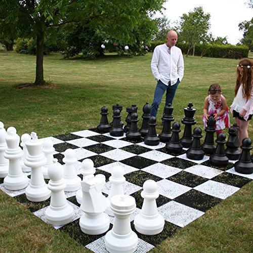 Garden-Games-Giant-Chess-Set-Teile-King-Manahmen-64-centimetres-hoch-Boden-ist-23-centimetres-im-Durchmesser