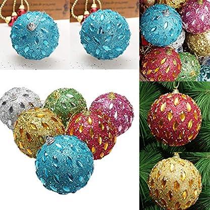 FeiliandaJJ-8CM-Weihnachten-Strass-Funkeln-Kugeln-Blle-Weihnachten-Baum-Ornament-Party-Hochzeit-Dekoration