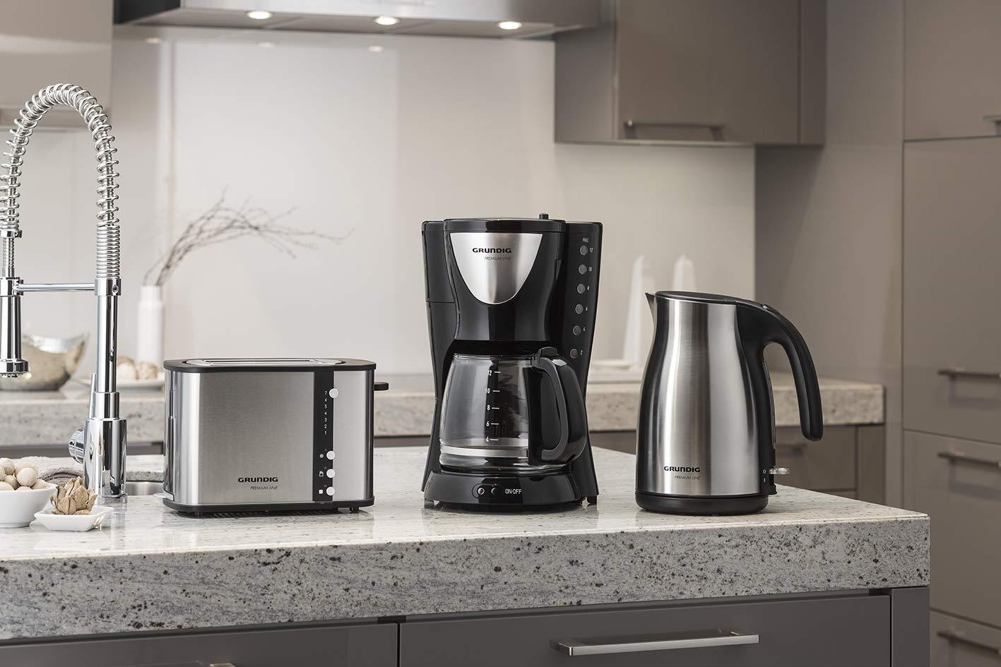 Grundig-KM-5260-Premium-Kaffeemaschine-950-Watt-schwarz-silber