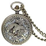 JewelryWe-Vintage-Niedliche-Delphine-Hohe-Openwork-Handaufzug-Mechanische-Taschenuhr-Skelett-Uhr-Pullover-Halskette-Kette