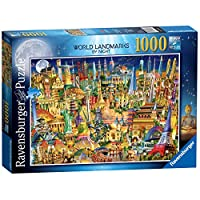 Ravensburger-19843-World-Landmarks-at-Night-Puzzle-1000-Teile