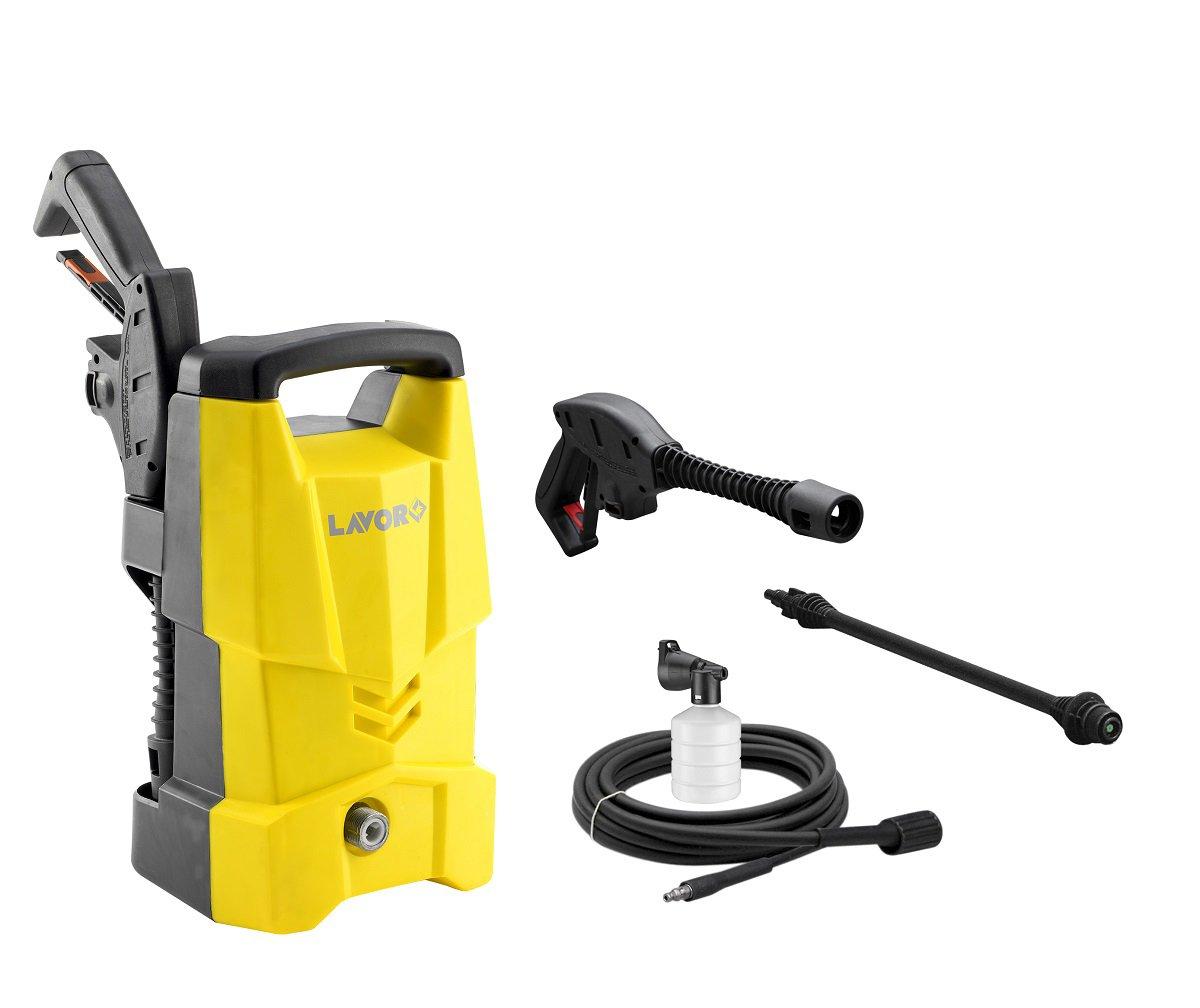 Hochdruckreiniger-ONE-120-Kaltwasser-Hochdruckreiniger-120-bar-Arbeitsdruck-3m-Schlauchlnge-inkl-Zubehr-und-Kabelhalterung