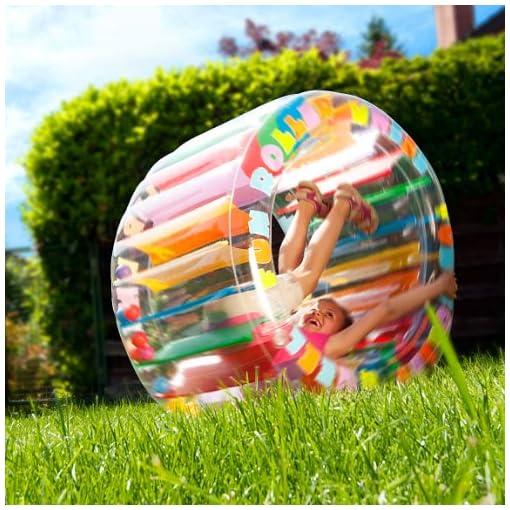 infactory-Zorb-Lustiges-Kinder-Zorbing-Walzen-Rad-zum-Aufblasen-Zorbing-Ball-Kinder
