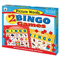 Picture-Words-2-Bingo-Games-With-32-Two-Sided-Game-Cards-and-Tokens-Calling-Cards-Answer-Mat