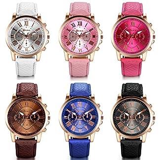 JewelryWe-Damen-Armbanduhr-Elegant-Exquisit-Casual-Analog-Quarz-Leder-Armband-Uhr-mit-Bonbonfarbenen-Rmischen-Ziffern-Zifferblatt-6-Farben