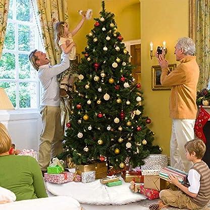 AMAUK-EU-Weihnachtsbaum-Rock-White-Faux-Pelz-Baum-Rock-Ornamente-Doppelschicht-Design-fr-Frohe-Weihnachten-und-Neujahr-Party-Ferienhaus-Dekorationen
