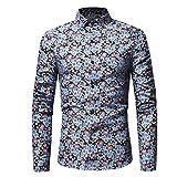 Herren-Hemd-Ursing-Mnner-Retro-Floral-Bedruckt-Bluse-Beilufig-Slim-Fit-Tops-Langarmhemd-Business-Freizeit-Hochzeit-Langarm-Hemden-fr-Mnner-Trachtenhemd-Freizeithemd
