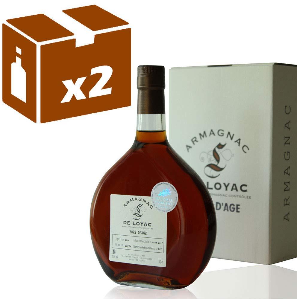 x2-Armagnac-De-Loyac-Hors-d-Age-70CL-Mdaille-d-argent