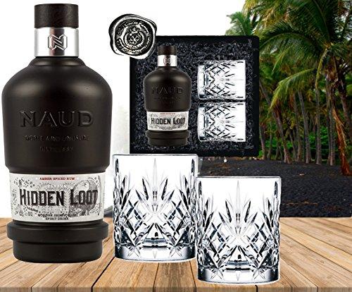 Rum-Neuheit-Panama-Spiced-Rum-3-Jahre-im-Bourbon-Fass-gereift-Sonderedition-NAUD-Hidden-Loot-Geschenkset-mit-2-geschliffenen-Glsern-Geburstag-Weihnachten-Rumkenner